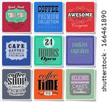 retro coffee  labels and... | Shutterstock .eps vector #166461890
