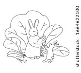 coloring page outline in... | Shutterstock .eps vector #1664622100