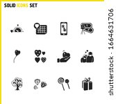 love icons set with hearts ...
