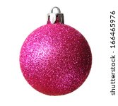 christmas bauble isolated on a... | Shutterstock . vector #166465976