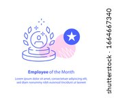 employee of the month concept ... | Shutterstock .eps vector #1664667340