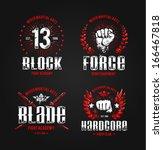 Grunge Fighting Prints. Martia...