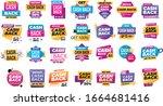 set of cash back icons big... | Shutterstock .eps vector #1664681416