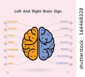 creative left and right brain... | Shutterstock .eps vector #166468328