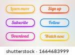set of modern ui buttons. user...