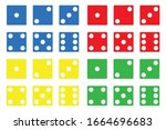 Illustration Of Colored Dice...