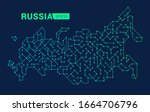 abstract digital map of russia. ...   Shutterstock .eps vector #1664706796