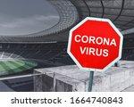 Red sign warning of coronavirus ...