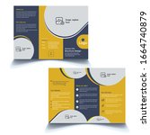 abstract business trifold... | Shutterstock .eps vector #1664740879
