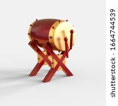 3d Rendering Of Red Gold Cannon ...