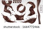 3d realistic splash of... | Shutterstock .eps vector #1664772466