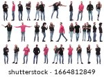 collage of photos of many... | Shutterstock . vector #1664812849