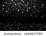 falling bright shiny silver... | Shutterstock .eps vector #1664817490