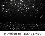 falling bright shiny silver... | Shutterstock .eps vector #1664817490