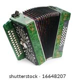 Green Accordion  Isolated On...