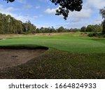 Autumn Scene On Golf Course