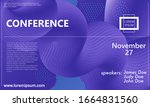 conference design template.... | Shutterstock .eps vector #1664831560