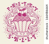 pretty sweet | Shutterstock .eps vector #166486664