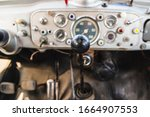 Dashboard And Gear Lever Of An...