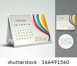 new year 2014 desk calender or... | Shutterstock . vector #166491560
