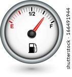 car fuel gauge  vector... | Shutterstock .eps vector #166491944