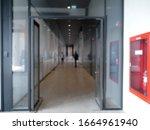 Blurred Of Corridor In The...