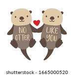 vector illustration of two cute ...   Shutterstock .eps vector #1665000520