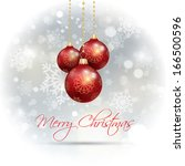 christmas baubles hanging on a...   Shutterstock .eps vector #166500596