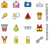 miscellaneous set icons for... | Shutterstock .eps vector #1665008473