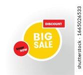 big sale banner  this weekend... | Shutterstock .eps vector #1665026533