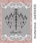 vintage wedding invitation card ... | Shutterstock .eps vector #166503320
