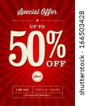 retail 50  off sale poster | Shutterstock .eps vector #166503428