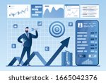 online stock market investment. ... | Shutterstock .eps vector #1665042376