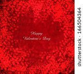 valentine's day background with ... | Shutterstock . vector #166504364