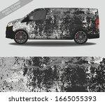 car wrap decal design vector ... | Shutterstock .eps vector #1665055393