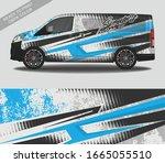 car wrap decal design vector ... | Shutterstock .eps vector #1665055510