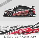 car wrap decal design vector ... | Shutterstock .eps vector #1665055519