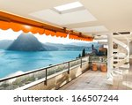 large balcony of a penthouse... | Shutterstock . vector #166507244