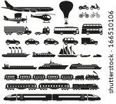 transportation icon set | Shutterstock .eps vector #166510106