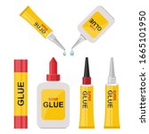 glue bottle vector design...   Shutterstock .eps vector #1665101950