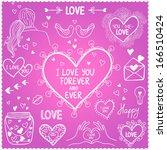 illustration sketch love doodle ... | Shutterstock .eps vector #166510424