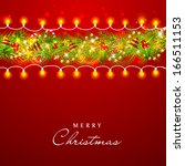 beautiful merry christmas... | Shutterstock . vector #166511153