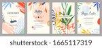trendy abstract easter... | Shutterstock .eps vector #1665117319