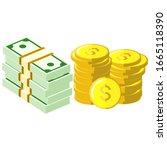 money is a medium of exchange... | Shutterstock .eps vector #1665118390