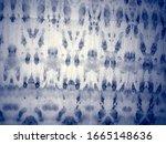 indigo tie dye print. sea dirty ... | Shutterstock . vector #1665148636