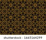 islamic ornament background... | Shutterstock . vector #1665164299