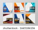 sport square banner template... | Shutterstock .eps vector #1665186106