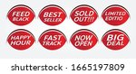 red banner promotion tag design ...   Shutterstock .eps vector #1665197809