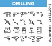 drilling equipment collection... | Shutterstock .eps vector #1665210046