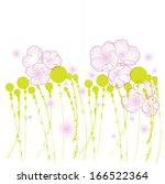 ready vector template of spring ... | Shutterstock .eps vector #166522364